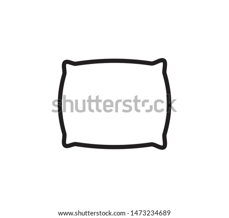 Pillow icon vector flat style trendy