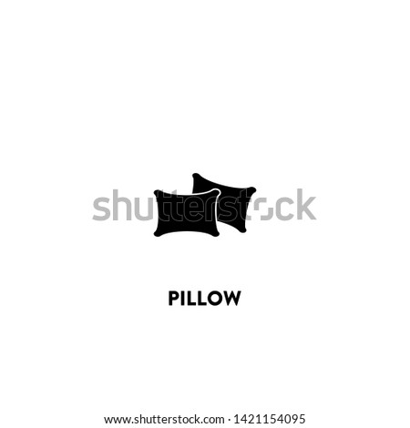 pillow icon vector. pillow sign on white background. pillow icon for web and app