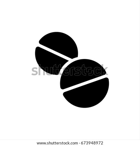 Pills Icon in trendy flat style isolated on grey background. Pills Icon page symbol for your web site design Pills Icon logo, app, UI. Pills Icon Vector illustration, EPS10.