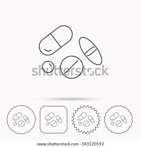 pills icon medicine tablets or