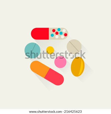 pills icon  vector illustration