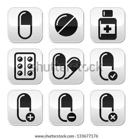 pills  medication  vector