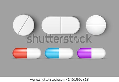 pills medicine capsule vector