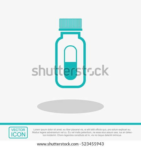 pills vector icon medicine