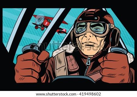 pilot flying military aircraft