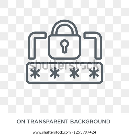 Pin code icon. Trendy flat vector Pin code icon on transparent background from Internet Security and Networking collection. High quality filled Pin code symbol use for web and mobile