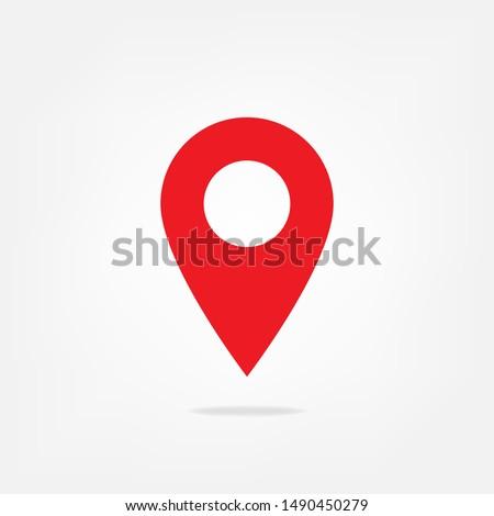 pin icon design, location icon design, pin map location vector