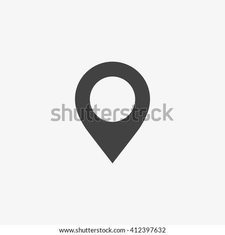 pin icon in trendy flat style