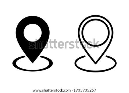 Pin icon set. Location icon vector. destination icon. map pin Stock photo ©