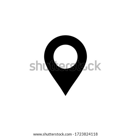 Pin icon vector. Location icon symbol isolated