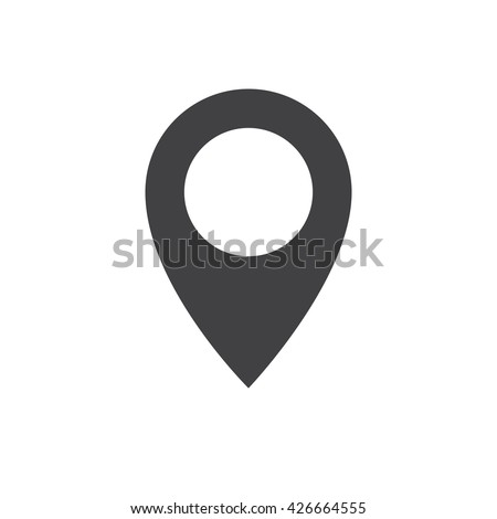 Pin icon vector. Location sign Isolated on white background. Navigation map, gps, direction, place, compass, contact, search concept. Flat style for graphic design, logo, Web, UI, mobile app, EPS10