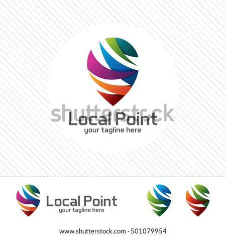 pin locator logo design