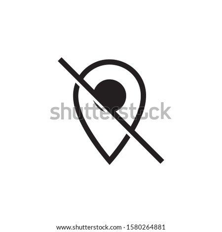 Pin map off icon vector isolated on background. Trendy location symbol. Pixel perfect. illustration EPS 10. - Vector.