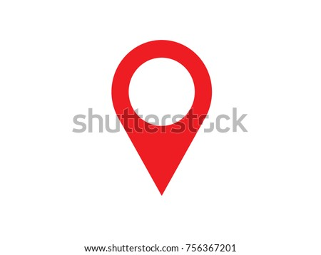 Pin map place location icon, Vector illustration with modern flat design on background for your unique location pin marker, pointer, destination label element design.