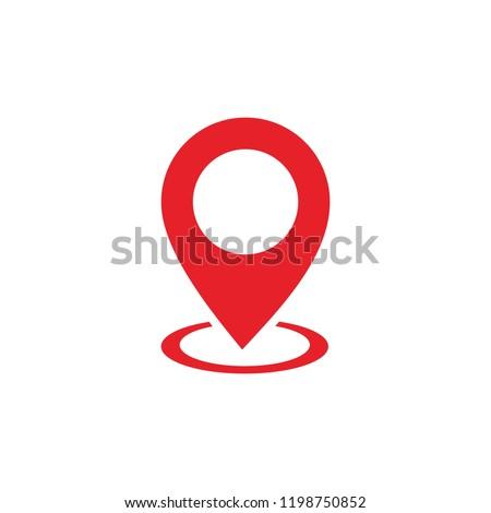 Pin Maps Location icon vector. Pin icon vector. Location icon. Map pointer icon
