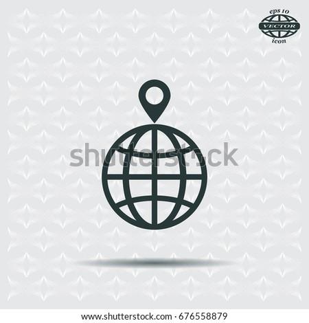 pin on globe icon