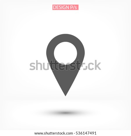 Pin on the map icon. Vector