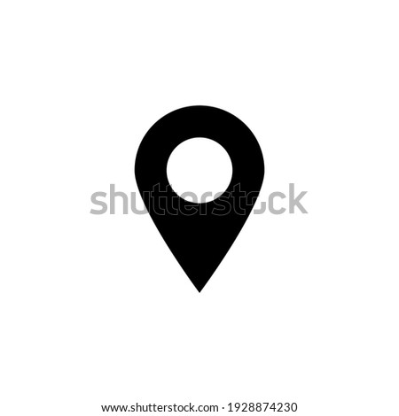 pin point icon isolated on white background Photo stock ©