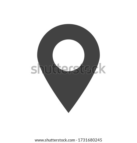 pin point icon. map location pointer flat style isolated on white background. vector illustration