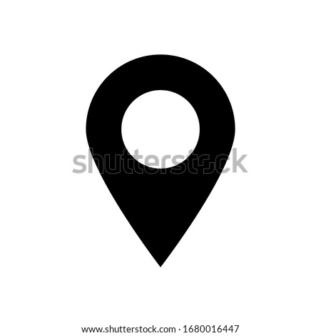 pin point isolated on white background. vector illustration