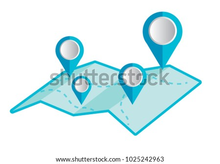 Pin point on the map. Orientation on gps. Vector illustration. #1025242963