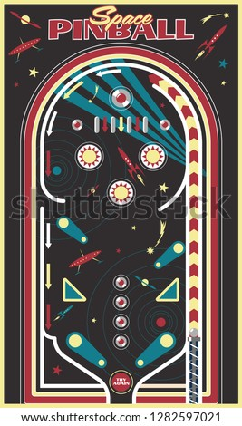 Pinball Playfield Background Space Subjects