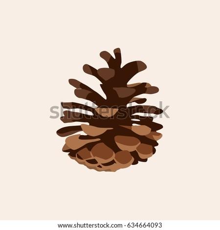 Pine cone icon vector illustration