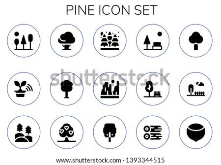 pine icon set 15 filled pine