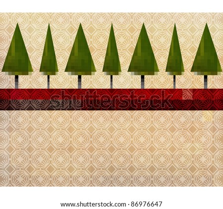 Pine tree artistic patterned  backgrounds esp10