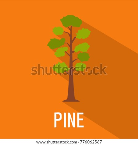 Pine tree icon. Flat illustration of pine tree vector icon for web