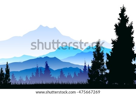 pine tree silhouette with