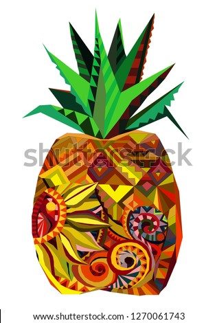 pineapple ananas vector fruit