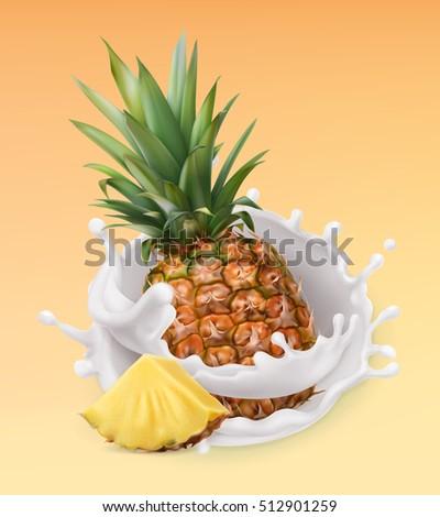 pineapple and milk splash