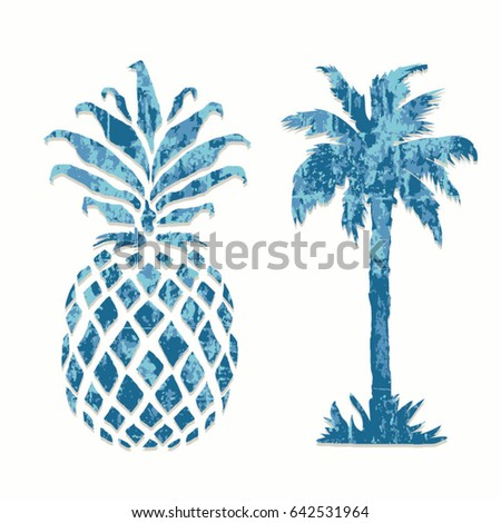 pineapple and palm tree...