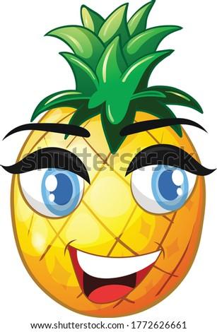 pineapple cartoon vector art