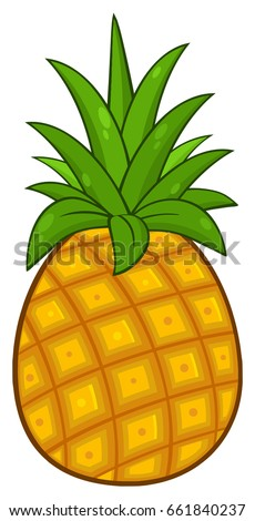 pineapple fruit with green