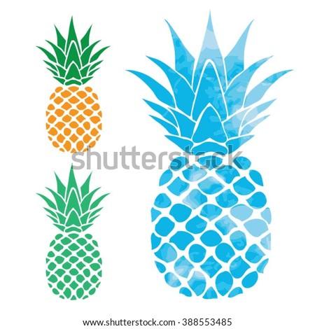 Pineapple illustration, typography, t-shirt graphics, vectors ストックフォト ©