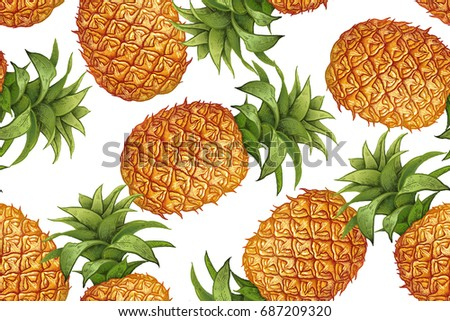 pineapple on white background....