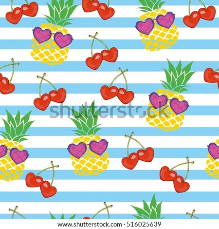 pineapple pattern    vector