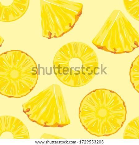 pineapple slices on yellow
