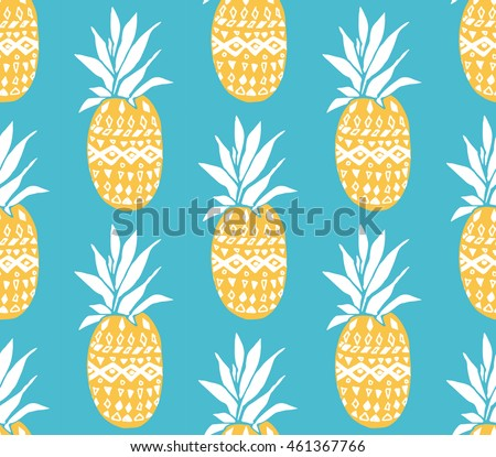 pineapple texture with hand