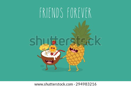 pineapple with coconut friend