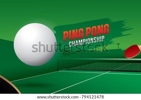 ping pong  championship design