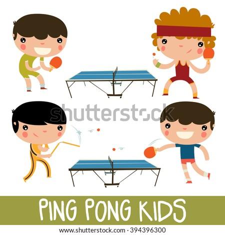ping pong kids set character
