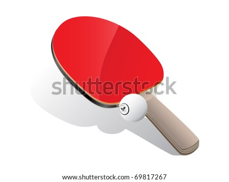 Ping-pong paddle with white ball
