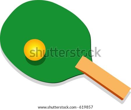 Ping-Pong rackett illustration
