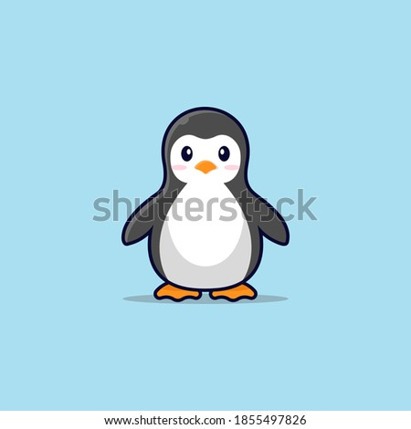 Pinguin illustration mascot logo, good for mascot, icon ,banner, etc. Stockfoto ©