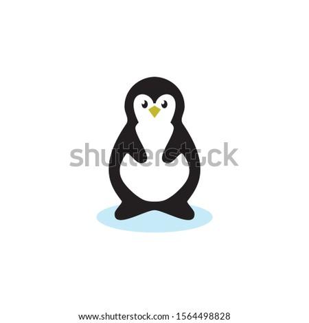 Pinguin logo, pinguin icon, pinguin cartoon Stockfoto ©