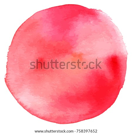 Pink abstract watercolour background texture on white. Scalable vector graphic