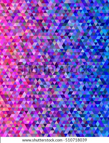 Pink and blue abstract triangle pattern background